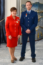 Dame Patsy with recipient Provisional Sergeant Brett Anthony Neal