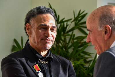 Finekata Moataane at the afternoon tea for recipients and their families