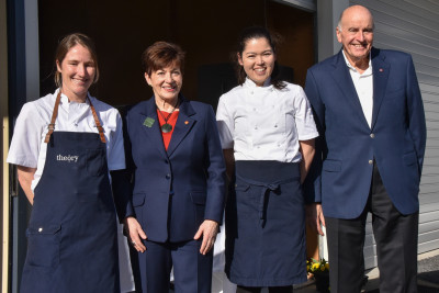 Dame Patsy and Sir David with Michelle Hartley and Momo Martin