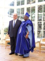 High Commissioner of Nigeria presents his credentials.