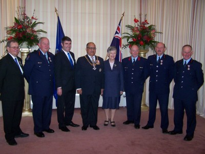 Firefighters honoured.