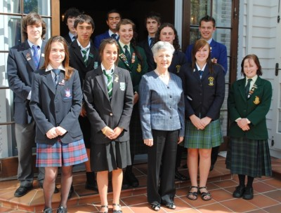 Afternoon Tea: Student Leaders from colleges in the Hutt Valley.