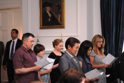 New Citizens give an Oath and Affirmation of Allegiance.