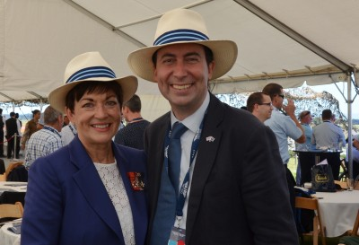 The Governor-General, The Rt Hon Dame Patsy Reddy and the British High Commissioner, HE Mr Jonathan Sinclair.