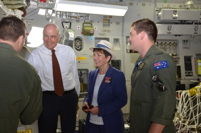 Their Excellencies inside a C17.