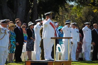 Royal New Zealand Navy Beat Retreat and Ceremonial Sunset Ceremony.