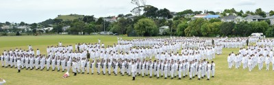 The Royal New Zealand Navy on Parade.