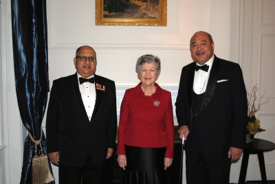 The Governor-General, Rt Hon Sir Anand Satyanand, Lady Susan Satyanand and HM King George Tupou V of Tonga.
