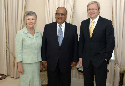 Meeting with Kevin Rudd.