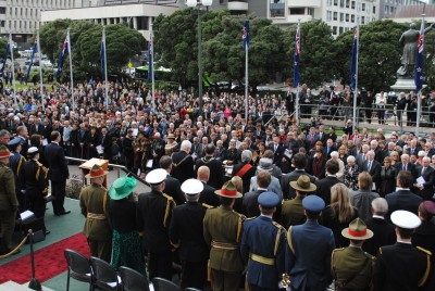 The people gathered to witness the swearing-in of Lt Gen Rt Hon Sir Jerry Mateparae.