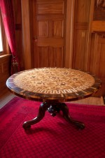 Marquetry table.