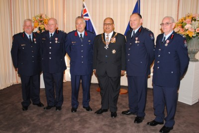 Four chief fire officers honoured.