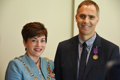 Dr David Richards, of Christchurch, NZBM, for an act of bravery.