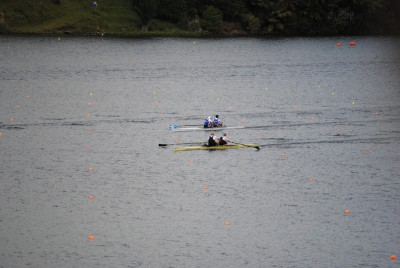 Men's coxless pair race.